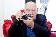 Fondation Cartier. Paris, France. 18 Octobre 2011.<br /> Le photographe réalisateur Raymond Depardon.