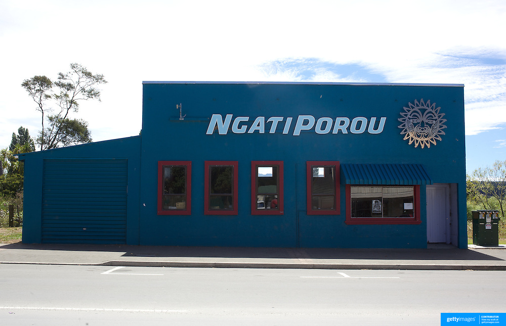 The now closed Blue Ngati Porou Tourism office in main street, Ruatoria, East Cape Road, New Zealand. 19th January 2010. Photo Tim Clayton  .