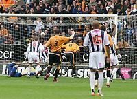 Photo: Mark Stephenson.<br /> Wolverhampton Wanderers v West Bromwich Albion. Coca Cola Championship. Play off Semi Final, 1st Leg. 13/05/2007.Wolve's Seyi Olofinjana (NO 4 ) scores for Wolves
