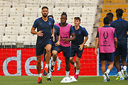 Chelsea forward Olivier Giroud (18) during the Chelsea Training session ahead of the 2019 UEFA Super Cup Final between Liverpool FC and Chelsea FC at BJK Vodafone Park, Istanbul, Turkey on 13 August 2019.