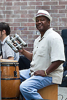 Percussionist in Latin Jazz band, Seattle, WA