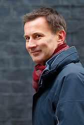 © Licensed to London News Pictures. 08/03/2016. London, UK. Health Secretary, JEREMY HUNT attending a cabinet meeting in Downing Street on Tuesday, 8 March 2016. Photo credit: Tolga Akmen/LNP
