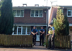 © London News Pictures. 19-06-17.  Cardiff, UK. South Wales Police search a property in Glyn Rhosyn, Pentwyn, in the NE of Cardiff in connection with the Finsbury Park attack earlier today in London. Picture Credit:Ian Homer/LNP