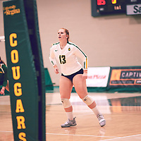 5th year libero, Taylor Ungar (13) of the Regina Cougars during the Women's Volleyball home game on Sat Jan 26 at Centre for Kinesiology, Health & Sport. Credit: Arthur Ward/Arthur Images