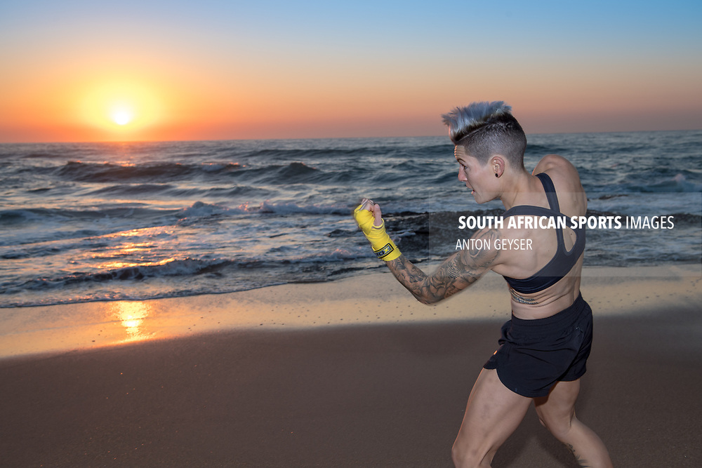 "BALLITO, SOUTH AFRICA - JUNE 04: Amanda ""Mad Dog"" Lino photo shoot at Thompson Bay on June 04, 2017 in Ballito, South Africa. (Photo by Anton Geyser/Gallo Images)"