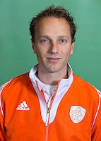 DELFT - Assistent/ analist Robbert-Jan de Vos. Nederlands zaalhockeyteam dames voor EK in Minsk. COPYRIGHT KOEN SUYK