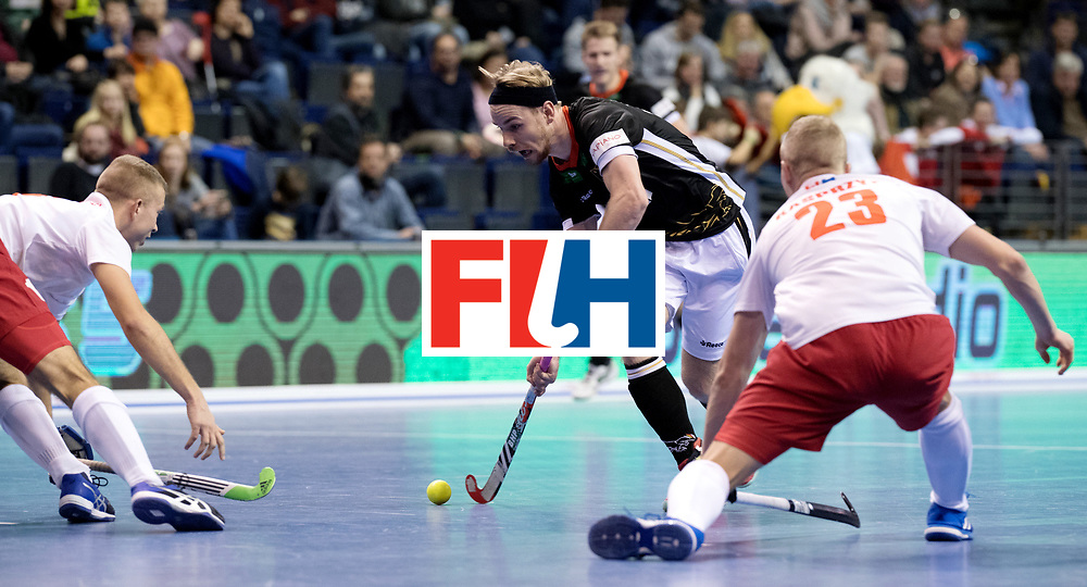 BERLIN - Indoor Hockey World Cup<br /> Men: Poland - Germany<br /> foto: Christopher R&uuml;hr.<br /> WORLDSPORTPICS COPYRIGHT FRANK UIJLENBROEK