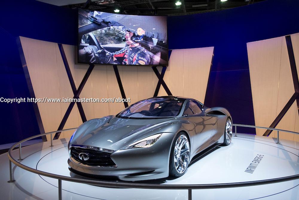 Infiniti electric concept Emerge-E car at Paris Motor Show 2012