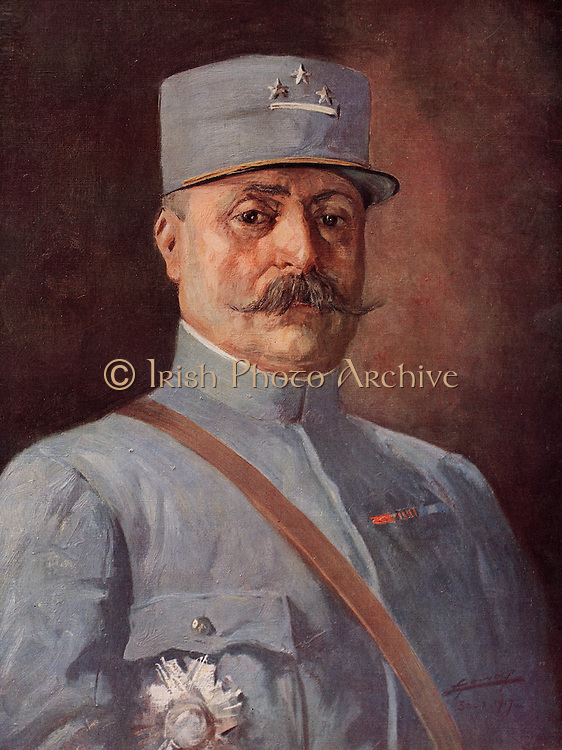 General Adolph Guillaumat (1863-1940). French military commander in the First World War.  At the end of the war he was appointed to the Supreme War Council at Versailles.