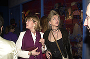 Virginia Howard, Sarah Keating.  Lady McAlpine & Vivienne Westwood exhibition. Museum of London. 6 April 2000<br />© Copyright Photograph by Dafydd Jones 66 Stockwell Park Rd. London SW9 0DA Tel 0171 733 0108 www.dafjones.com