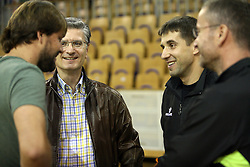 Jure Jankovic, Franjo Bobinac and Robert Begus after handball game between women team RK Olimpija vs ZRK Brezice at 1st round of National Championship, on September 13, 2008, in Arena Tivoli, Ljubljana, Slovenija. (Photo by Vid Ponikvar / Sportal Images)