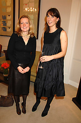 Left to right, LIZZIE PITMAN and SAMANTHA CAMERON at a party to celebrate the launch of the book 'Long Way Down' by Ewan McGregor and Charley Boorman held at Smythson, 40 New Bond Street, London W1 on 19th November 2007,<br /><br />NON EXCLUSIVE - WORLD RIGHTS
