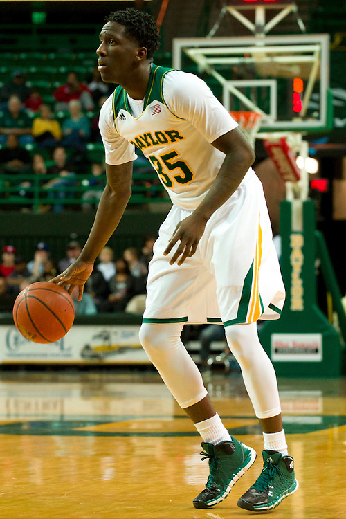 WACO, TX - JANUARY 3: Taurean Prince #35 of the Baylor Bears brings the ball up court against the Savannah State Tigers on January 3, 2014 at the Ferrell Center in Waco, Texas.  (Photo by Cooper Neill) *** Local Caption *** Taurean Prince