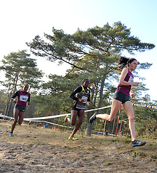 31-12-2014 NED: Rabobank Sylvestercross, Soest<br /> Bij de vrouwen ging de overwinning in de loop over 6 km door de Soester bossen naar Lucy Macharia (L). De Keniaanse was in de sprint Maureen Koster de baas. Almensh Belete 101 wordt derde