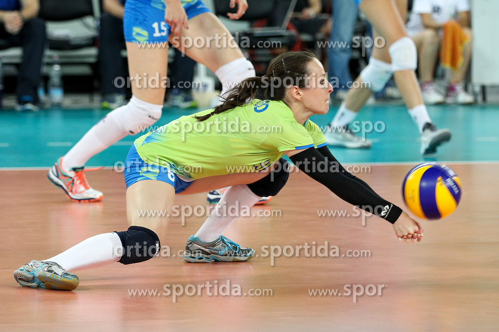 Katja Medved of Slovenia during volleyball match between Slovenia and Slovakia in CEV European League Women on June 22, 2016 in Stozice, Ljubljana, Slovenia. Photo by Morgan Kristan / Sportida