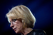 Businesswoman, philantropist and United States Secretary of Education Betsy DeVos talks at the CPAC, Conservative Political Action Conference.