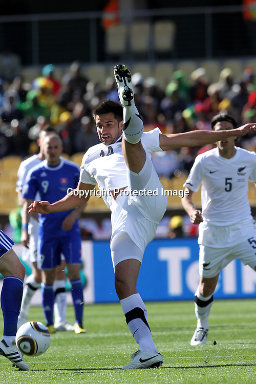 Rory Fallon of New Zealand  during the the FIFA World Cup 2010 match between New Zealand and Slovakia at The Royal Bafokeng stadium in Rustenburg, South Africa on the 15th June 2010<br /> <br /> <br /> Photo by Ron Gaunt/Sportzpics/PHOTOSPORT