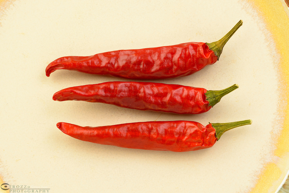 Spicy hoy red chili peppers.