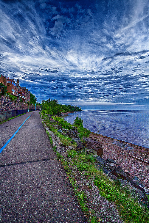 This trail is located in Duluth Minnesota. It starts at the Duluth Lake Superior Harbor and runs along Lake Superior.
