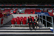 The home dugout before the EFL Sky Bet Championship match between Bristol City and Birmingham City at Ashton Gate, Bristol, England on 7 May 2017. Photo by Andrew Lewis.
