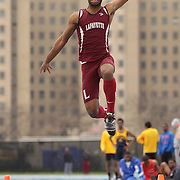 Expression of Long Jumpers during the Long Jump competition at the 2013 NYC Mayor's Cup Outdoor Track and Field Championships at Icahn Stadium, Randall's Island, New York USA.13th April 2013 Photo Tim Clayton