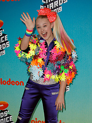 March 23, 2019 - Los Angeles, CA, USA - LOS ANGELES, CA - MARCH 23: JoJo Siwa attends Nickelodeon's 2019 Kids' Choice Awards at Galen Center on March 23, 2019 in Los Angeles, California. Photo: CraSH for imageSPACE (Credit Image: © Imagespace via ZUMA Wire)