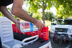 Plenty of bottles prepared before Stage 1 of the Amgen Tour of California - a 124 km road race, starting and finishing in Elk Grove on May 17, 2018, in California, United States. (Photo by Balint Hamvas/Velofocus.com)