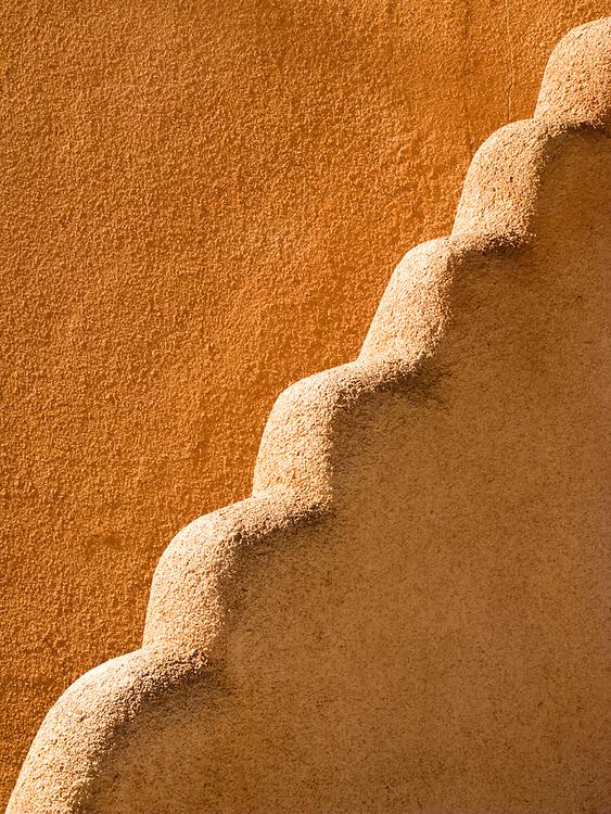 Southwest adobe style architecture. Taos, New Mexico.