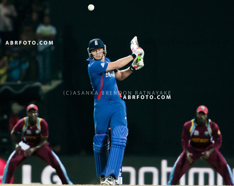 Eoin Morgan batting during the ICC world Twenty20 Cricket held in Sri Lanka.