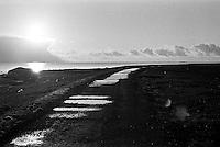 Solnedgang p&aring; Kvalneset p&aring; Giske.<br /> Foto: Svein Ove Ekornesv&aring;g