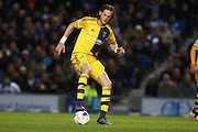 Fulham defender Richard Stearman during the Sky Bet Championship match between Brighton and Hove Albion and Fulham at the American Express Community Stadium, Brighton and Hove, England on 15 April 2016. Photo by Bennett Dean.