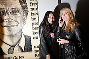 ANDREA AMARAL; DELIA ANTAL; BILL GATES ( BEHIND) The Wall St. 100. Jose-Maria Cano. RIFLEMAKER DAIRY. Wakefield St. London. WC!. 9 November 2009