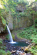 Ponytail Falls in the Columbia River Gorge, along the scenic Highway.