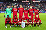 Liverpool team line up ahead of the Champions League match between FC Red Bull Salzburg and Liverpool at the Red Bull Arena, Salzburg, Austria on 10 December 2019.