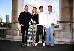 Robbie Williams, Ayda Field, Louis Tomlinson and Simon Cowell attending the X Factor photocall held at Somerset House, London.
