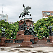 Jose de San Martín Statue in Plaza San Martin in downtown Buenos Aires Argentina.