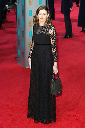 © Licensed to London News Pictures. 14/02/2016. London, UK. AMANDA BERRY (Chief Executive of BAFTA) arrives on the red carpet at the EE British Academy Film Awards 2016 Photo credit: Ray Tang/LNP