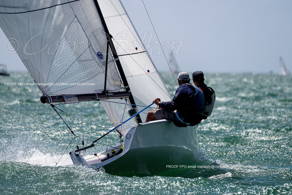 VX One Class sailing in Bacardi Miami Sailing Week, day five.