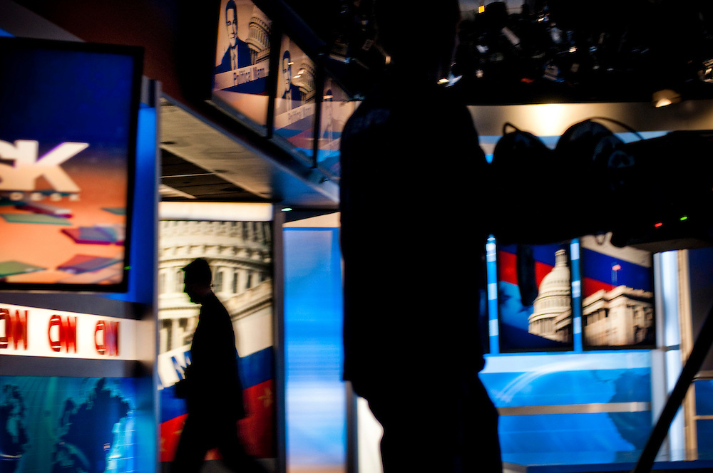 Jonathan Mann, the host of CNN's Political Mann..Mann also does the Nobel Peace Prize interviews for CNN in Oslo