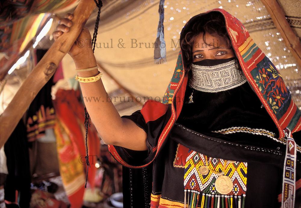 Erythrea, femme Rashaidia // Eritrea, Rashaidia ethnic group woman