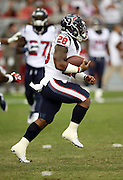 Houston Texans running back Dennis Johnson (28) runs with the ball during pre game warmups before the 2014 NFL preseason football game against the Arizona Cardinals on Saturday, Aug. 9, 2014 in Glendale, Ariz. The Cardinals won the game in a 32-0 shutout. ©Paul Anthony Spinelli