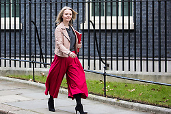 London, UK. 29th January, 2019. Elizabeth Truss MP, Chief Secretary to the Treasury, leaves 10 Downing Street following a Cabinet meeting on the day of votes in the House of Commons on amendments to Prime Minister Theresa May's final Brexit withdrawal agreement which could determine the content of the next stage of negotiations with the European Union.