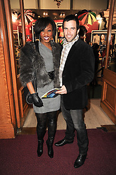 BEVERLEY KNIGHT and JAMES O'KEEFE at the gala opening night of Cirque du Soleil's Varekai at the Royal Albert Hall, London on 5th January 2010.