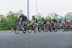 Tone Hatteland Lima and Cylance Pro Cycling work to close the gap to the lone leader, Bujak - Tour of Chongming Island 2016 - Stage 3. A 99 km road race on Chongming Island, China on May 8th 2016.