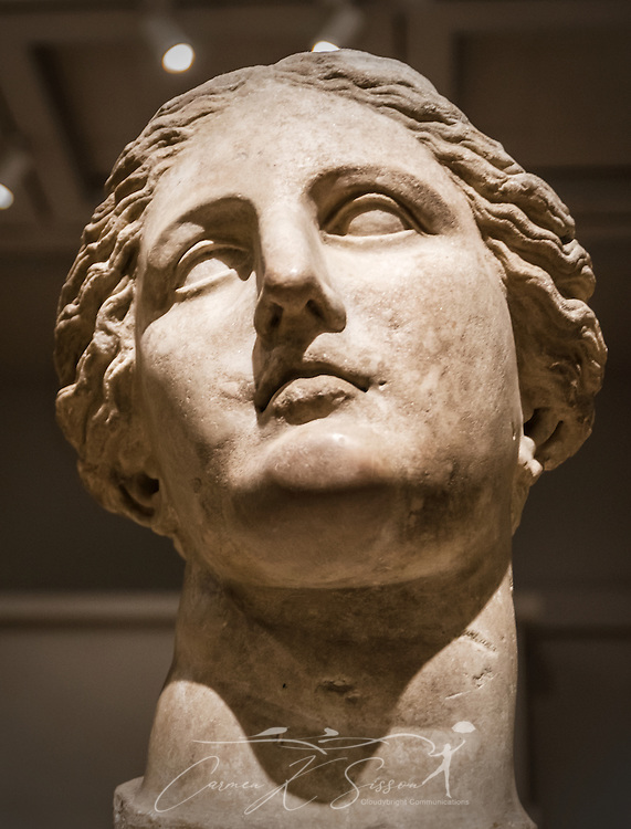 A Greek sculpture of a goddess, believed to be Demeter, is displayed at the Michael C. Carlos Museum at Emory University, July 8, 2014, in Atlanta, Georgia. The museum was founded in 1876 and contains more than 17,000 artifacts in its permanent collections. (Photo by Carmen K. Sisson/Cloudybright)