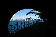 Sydney Opera House viewed from Milsons Point. Sydney, Australia