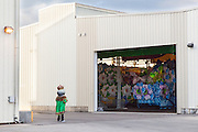 Waiting for Mardi Gras; CNA party at Mardi Gras World for meetings inc.