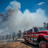The Holcomb Fire burns in the Holcomb Valley are of the San Bernardino National Forest near Big Bear, Tuesday, June 20, 2017. (EricReed/For The Sun/SCNG)