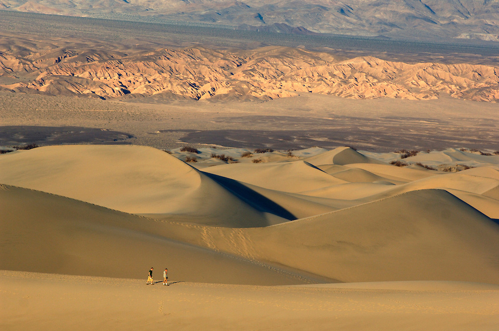 People walking in Sand Dunes, Death Valley National Park, California, United States of America