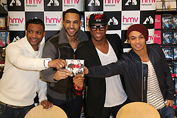 Boy band JLS  record signing at HMV in Birmingham, Friday, 9th November 2012 Photo by : Tim Scrivener / i-Images